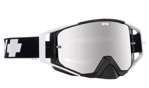 SPY ACE MX BLACK SMOKE W/ SILVER MIRROR (+CLEAR ANTI FOG W/ POSTS)