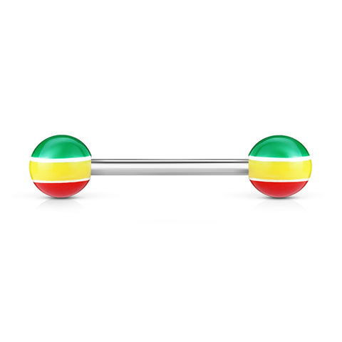 Color Stripe Acrylic Ball Barbell