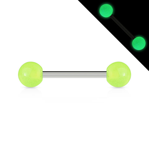 Glow In The Dark Ball 316L Surgical Stainless Steel Barbell