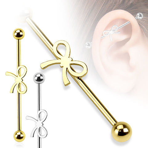 Ribbon 316L Surgical Steel Industrial Barbell