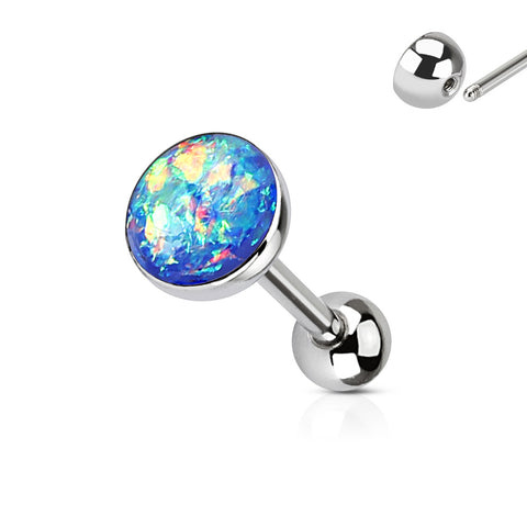 Imitation Opal Set 316L Surgical Steel Barbell