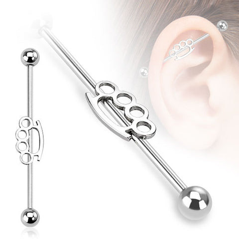 Brassknuckle Industrial Barbell 316L Surgical Steel