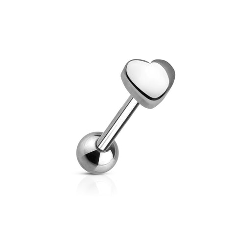 6mm Stainless Steel Heart Top 316L Surgical Steel Barbell