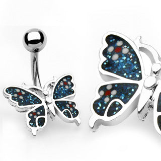 Colored Butterfly Navel Ring