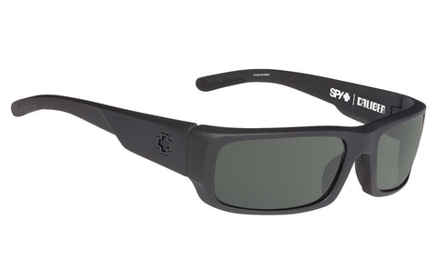 SPY CALIBER SOFT MATTE BLACK HAPPY GREY GREEN POLARIZED