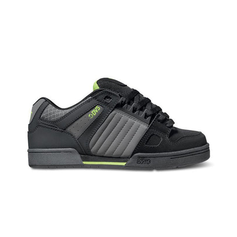 DVS Mens Celsius Grey Black Lime Nubuck Shoe