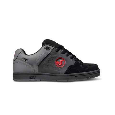 DVS Mens Discord Grey Black Red Nubuck Deegan Shoe