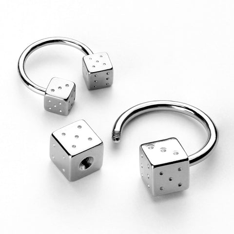 Steel dice 316L Surgical Stainless Steel Circular