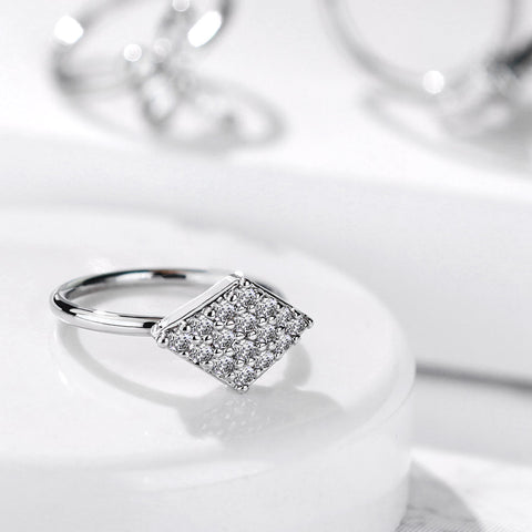 CZ Paved Diamond Shaped Bendable Nose, Cartilage Hoop Rings