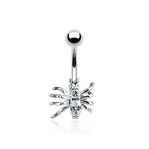 Navel Ring w/CZ Spider
