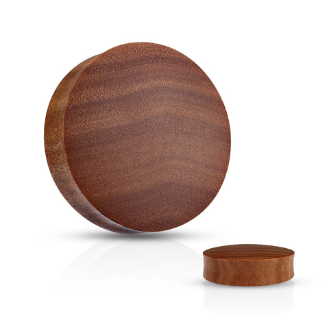 Convex Saddle Fit Saba Wood Organic Plugs
