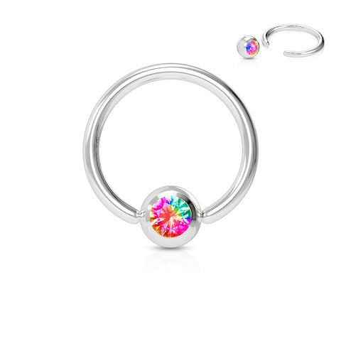 Press Fit Gem Ball 316L Surgical Steel Captive Bead Ring