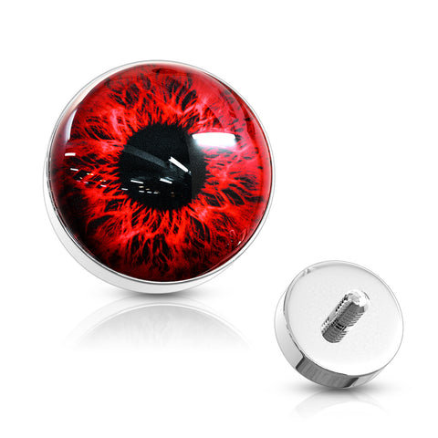 Eyeball 316L Surgical Steel Internally Threaded Dermal Anchor Top