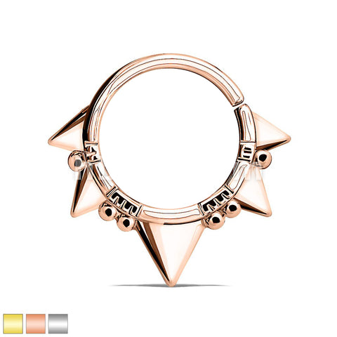 Triangles and Beads Bendable Nose Septum and Ear Cartilage Hoops