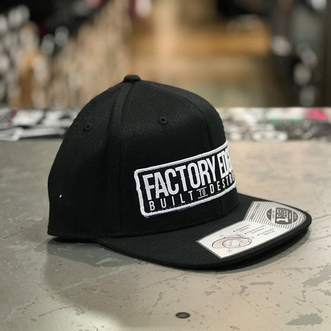 Factory Edge Mens Avenue 110 Snapback Hat Black O/S