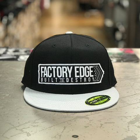 Factory Edge Mens Avenue 210 Flexfit Hat Black/Grey