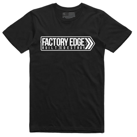 Factory Edge Mens Avenue T Shirt Black