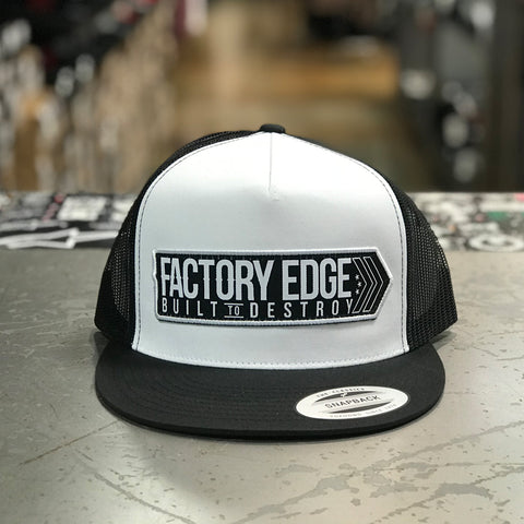 Factory Edge Mens Avenue Trucker Snapback White/Black O/S
