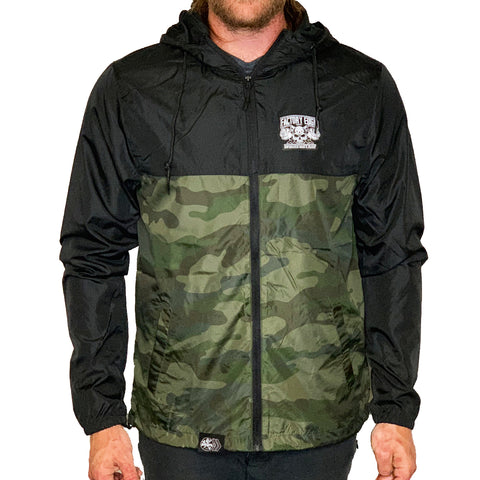 Factory Edge Mens WWT Windbreaker Zip Camo