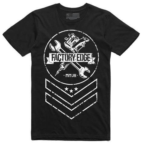 Factory Edge Mens Chevron Full T Shirt Black