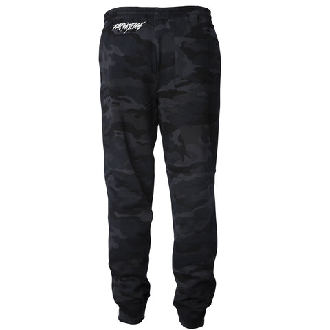 Factory Edge Mens Do Rad Sh!t Pants Black Camo