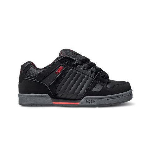 Dvs Mens Celsius Black Grey Red Nubuck Deegan Shoe
