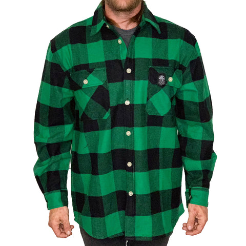 Factory Edge Mens Factory Flannel Green