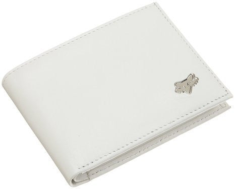 Fox Leather Bifold Wallet White One Size