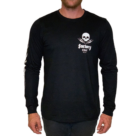 Factory Edge Mens Garage Longsleeve T Shirt Black