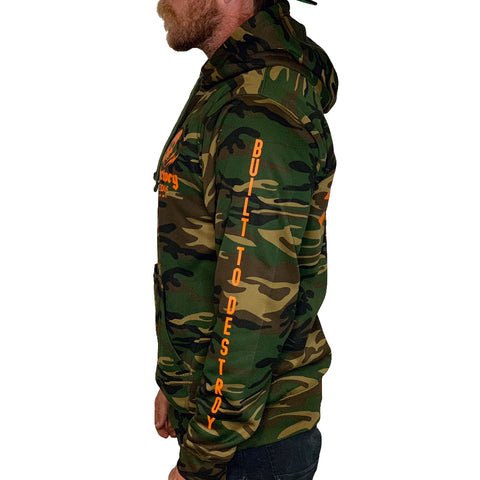 Factory Edge Mens Garage Tech Pullover Hoodie Camo