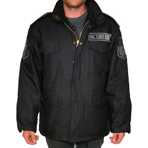 Factory Edge Mens M65 Field Jacket Black