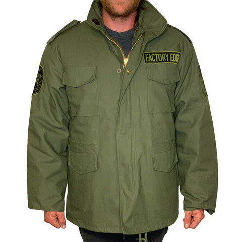 Factory Edge Mens M65 Field Jacket Olive