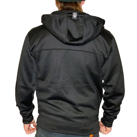 Factory Edge Mens M65 Tech Zip Hoodie Black