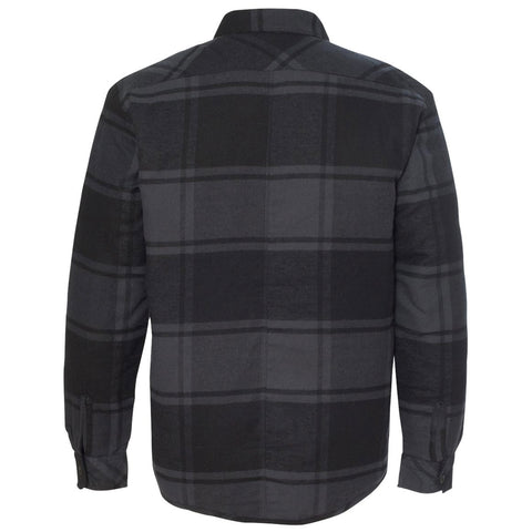 Factory Edge Mens Onyx Flannel Jacket Black