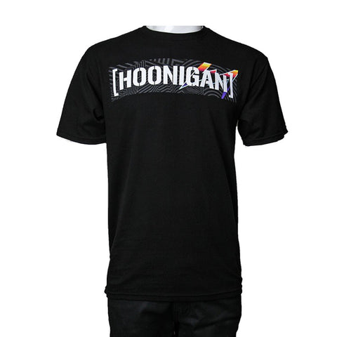 Hoonigan Mens Pantone Censor Bar T Shirt Black