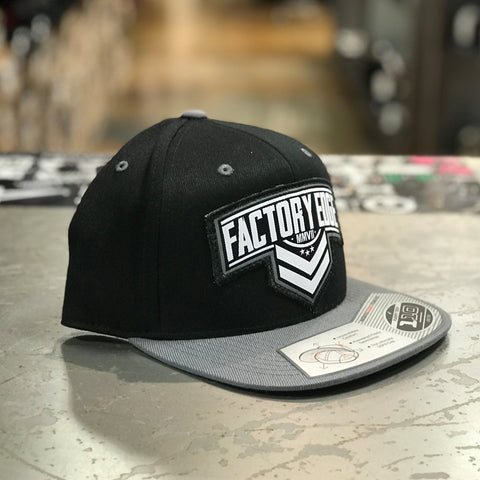 Factory Edge Mens Sarge 110 Snapback Hat Black/Grey O/S