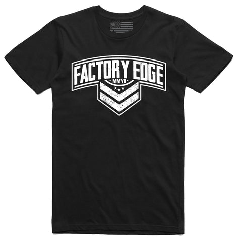 Factory Edge Mens Sarge One T Shirt Black