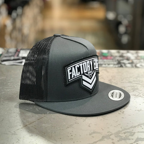 Factory Edge Mens Sarge Trucker Snapback Charcoal/Black O/S