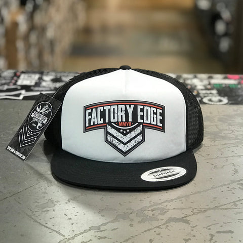 Factory Edge Mens Sarge Foam Trucker Hat Snapback Black O/S