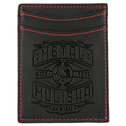 Metal Mulisha Mens Signal Bottle Opener Wallet Black One Size