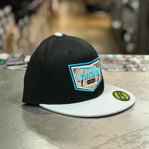 Factory Edge Mens Single Cab 210 Flexfit Hat Black/Grey