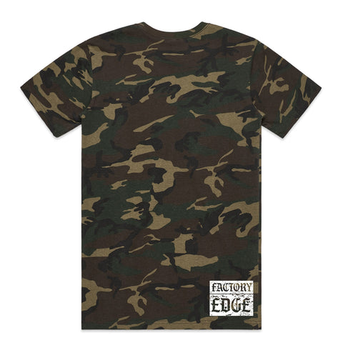 Factory Edge Mens Turbo Reaper T Shirt Camo