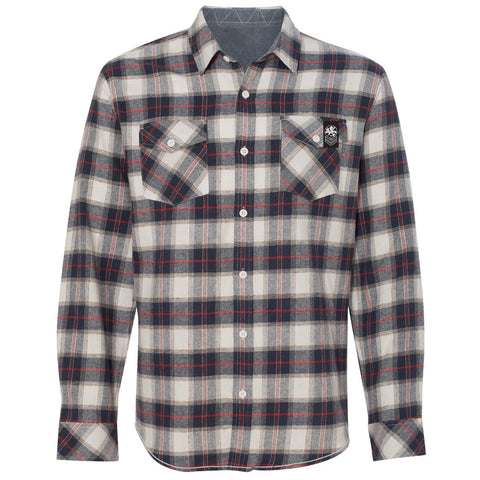 Factory Edge Mens United Flannel White/Red