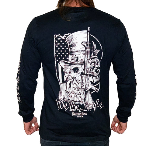 Factory Edge Mens We The People Longsleeve T Shirt Black