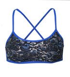 Blue Lace Reversible Yoganista Bra