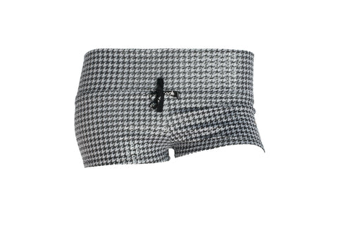 Gray Houndstooth Booty Short