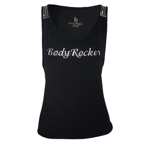 Black BodyRocker Tie Back Tank