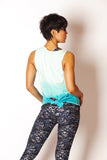Teal/Blue Dipdye BodyRocker Tank