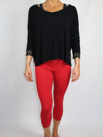 Red Long Capri