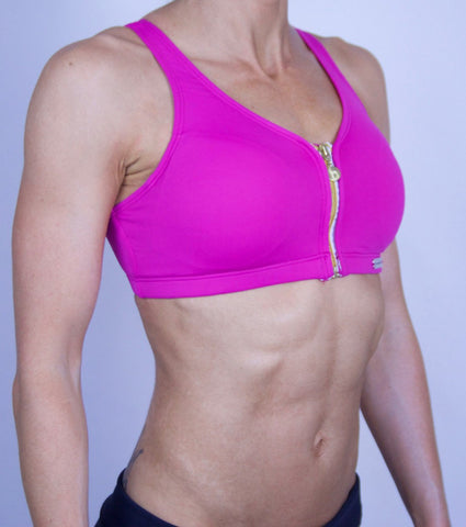 Pink Empowered Zip Up Bra